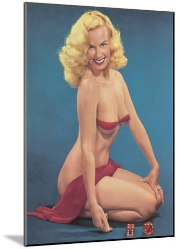 Pin Up with Dice--Mounted Giclee Print