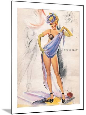 Do You Like the Hat?-Elliott Freeman-Mounted Giclee Print
