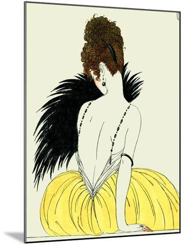 Woman with Fan-Georges Barbier-Mounted Giclee Print