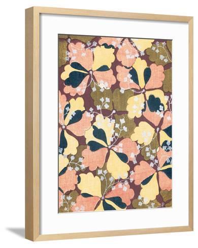 Ginkgo Kimono Design--Framed Art Print