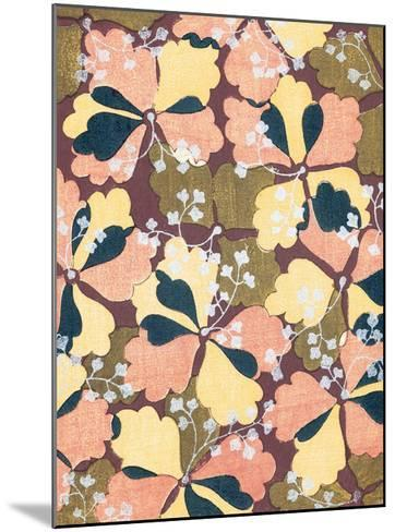 Ginkgo Kimono Design--Mounted Giclee Print