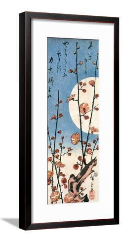 Blossoming Plum Tree with Full Moon-Ando Hiroshige-Framed Art Print