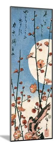 Blossoming Plum Tree with Full Moon-Ando Hiroshige-Mounted Giclee Print