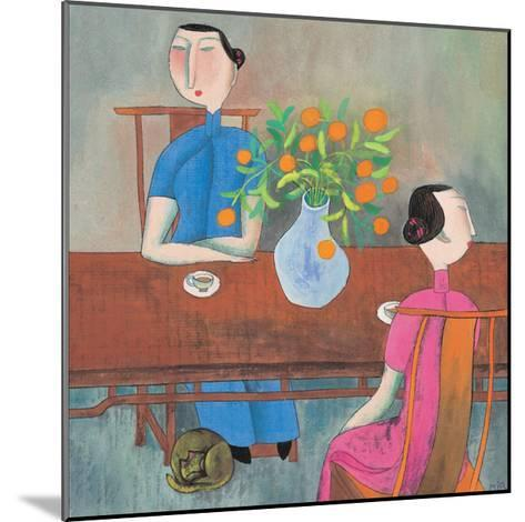 Two Women at Table--Mounted Giclee Print