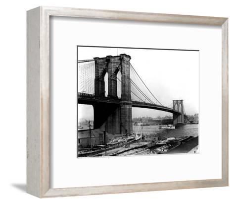 Brooklyn Bridge, New York, c.1905--Framed Art Print