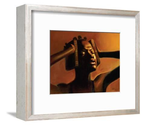 Hear No Evil (Female)-Sterling Brown-Framed Art Print