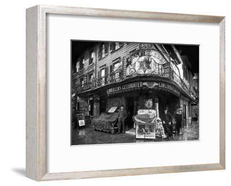 Vendors on Sixth Avenue, Brooklyn, c.1908--Framed Art Print