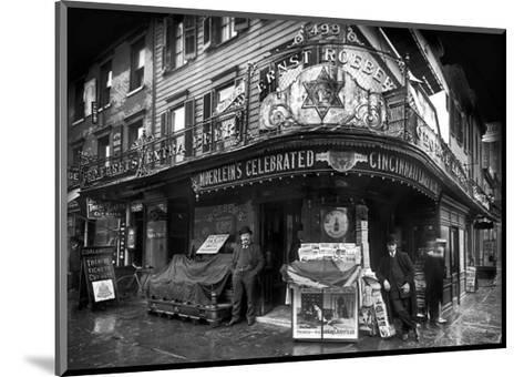 Vendors on Sixth Avenue, Brooklyn, c.1908--Mounted Art Print
