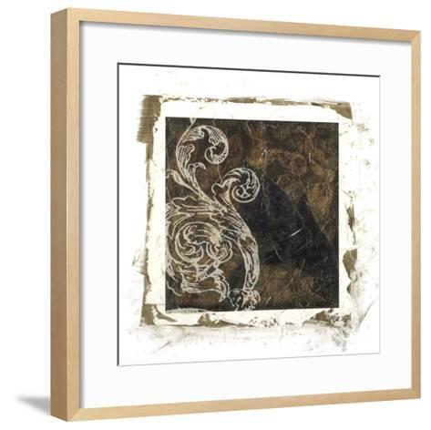Embellished Scroll Nine Patch I-Jennifer Goldberger-Framed Art Print