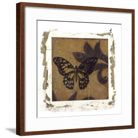 Embellished Scroll Nine Patch II-Jennifer Goldberger-Framed Art Print