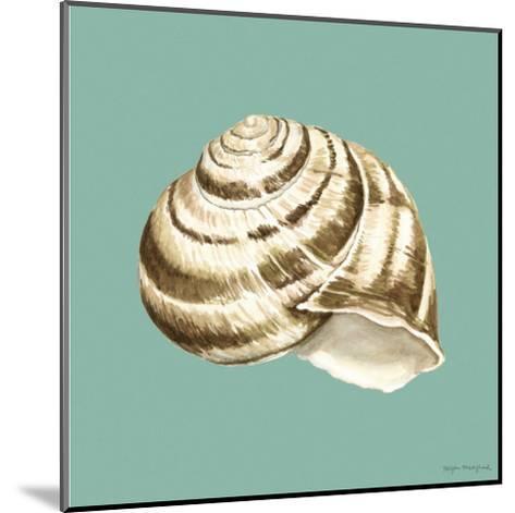 Shell on Aqua I-Megan Meagher-Mounted Art Print