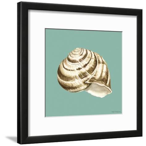 Shell on Aqua I-Megan Meagher-Framed Art Print