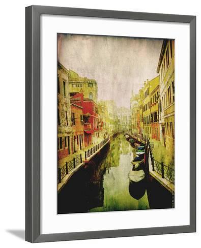 Streets of Italy III-Robert Mcclintock-Framed Art Print
