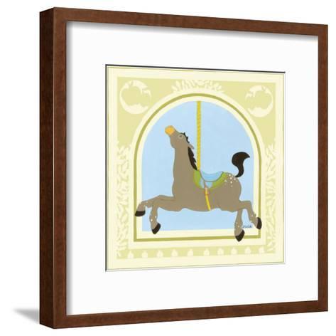 Horse Carousel-Erica J^ Vess-Framed Art Print