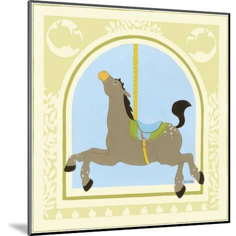 Horse Carousel-Erica J^ Vess-Mounted Art Print