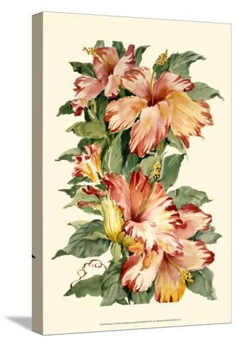 Hibiscus II-Joy Waldman-Stretched Canvas Print