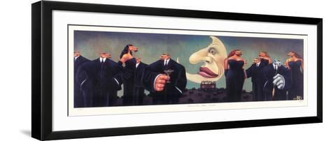 Black Tie Blue Coyote-Markus Pierson-Framed Art Print