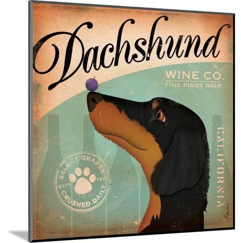 Daschund Wine-Stephen Fowler-Mounted Art Print