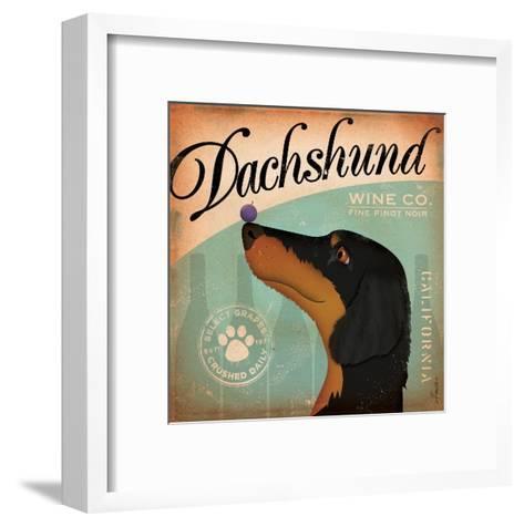 Daschund Wine-Stephen Fowler-Framed Art Print
