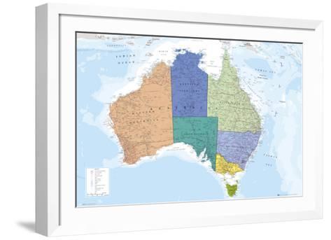 AUSTRALIA MAP--Framed Art Print
