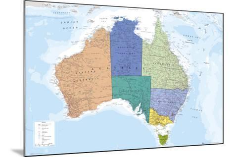 AUSTRALIA MAP--Mounted Poster