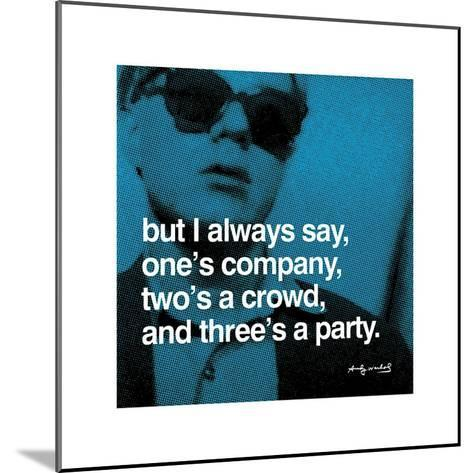 Three's a Party--Mounted Giclee Print