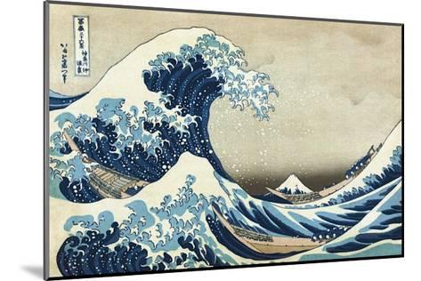 The Great Wave at Kanagawa-Katsushika Hokusai-Mounted Giclee Print