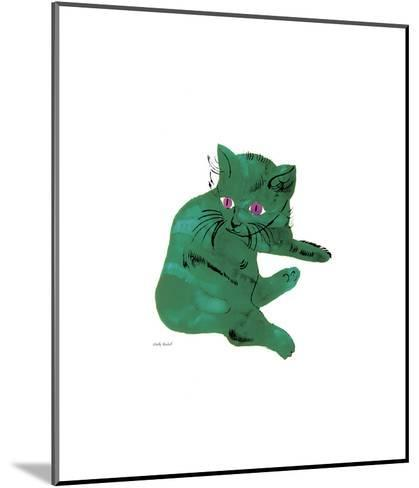 Green Cat, c.1956-Andy Warhol-Mounted Giclee Print
