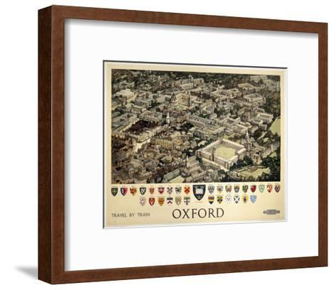 Oxford View from Air--Framed Art Print