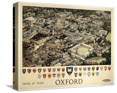 Oxford View from Air--Stretched Canvas Print