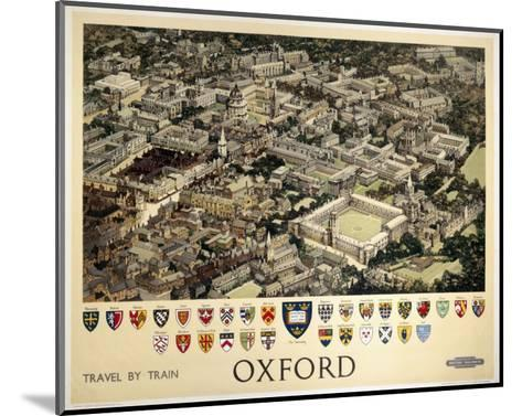 Oxford View from Air--Mounted Art Print