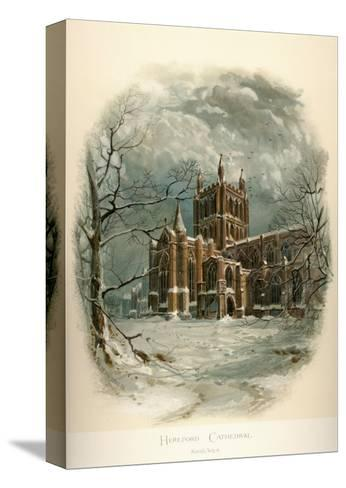 Hereford Cathedral, North West-Arthur Wilde Parsons-Stretched Canvas Print