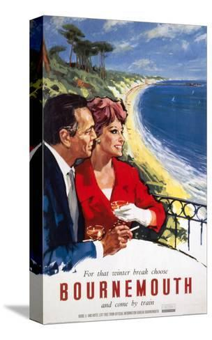 Bournemouth Couple--Stretched Canvas Print