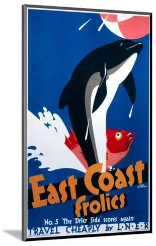 East Coast Frolics--Mounted Art Print