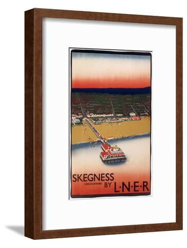 Skegness Form Air--Framed Art Print