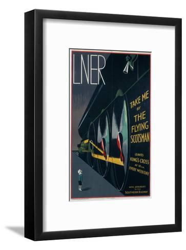 Take Me by The Flying Scotsman--Framed Art Print