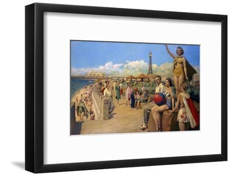 Blackpool Bust Seafront--Framed Art Print