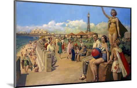 Blackpool Bust Seafront--Mounted Art Print