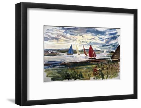 Norfolk Sailing Boats--Framed Art Print