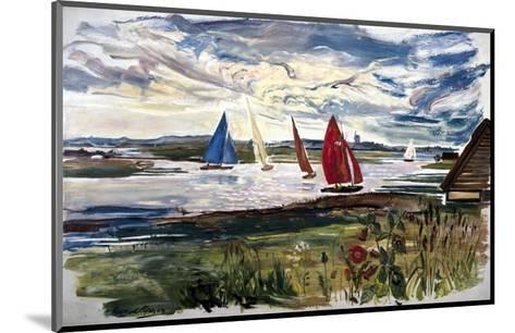 Norfolk Sailing Boats--Mounted Art Print