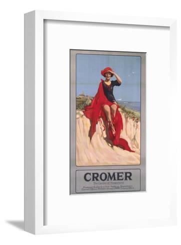 Cromer Girl with Red Material--Framed Art Print