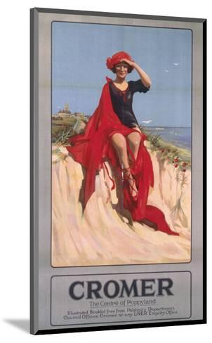 Cromer Girl with Red Material--Mounted Art Print