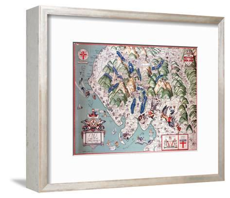 Pictorial View of Lancashire--Framed Art Print