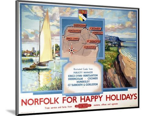 Norfolk for Happy Holidays--Mounted Art Print