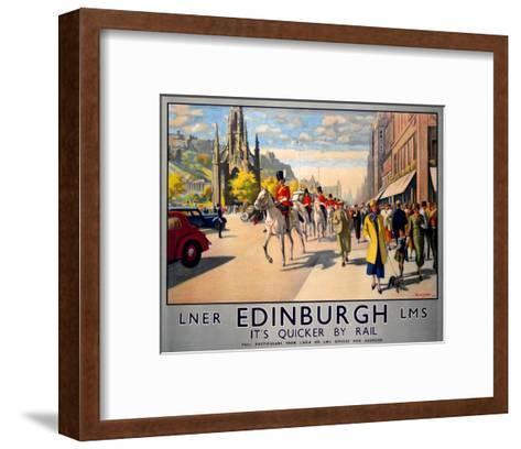 LNER Edinburgh--Framed Art Print