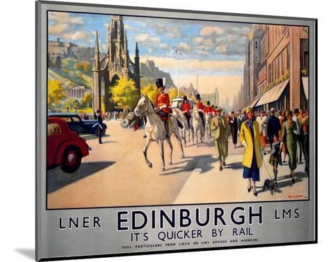 LNER Edinburgh--Mounted Art Print