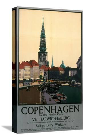 Copenhagen--Stretched Canvas Print