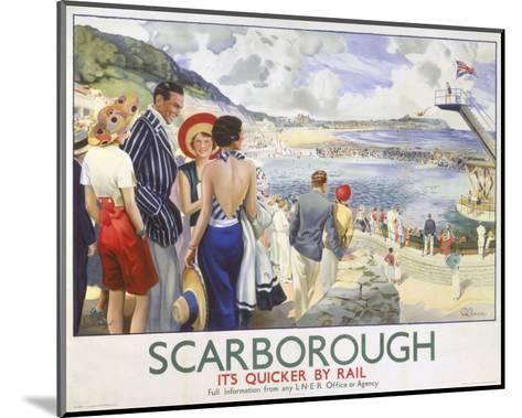 Scarborough, It's Quicker by Rail--Mounted Art Print
