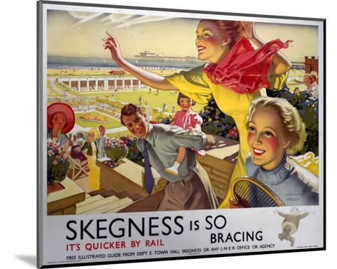 Skegness, Travel by Rail--Mounted Art Print
