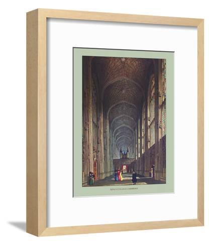 Inside King's College--Framed Art Print